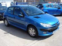 2004 PEUGEOT 206 1.4 ENTICE 5d 74 BHP £995.00