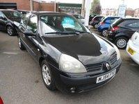 2004 RENAULT CLIO 1.1 EXTREME 3 16V 3d 75 BHP £1495.00