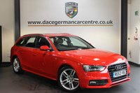 USED 2014 63 AUDI A4 2.0 AVANT TDI QUATTRO S LINE 4X4 5DR 174 BHP + FULL AUDI SERVICE HISTORY + HALF BLACK LEATHER INTERIOR + BLUETOOTH + SPORTS SEATS + 18 INCH ALLOY
