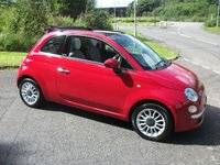 USED 2009 59 FIAT 500C 1.2 C LOUNGE 3d 69 BHP       ** CABRIOLET - ELECTRIC ROOF  **LOW ROAD TAX**
