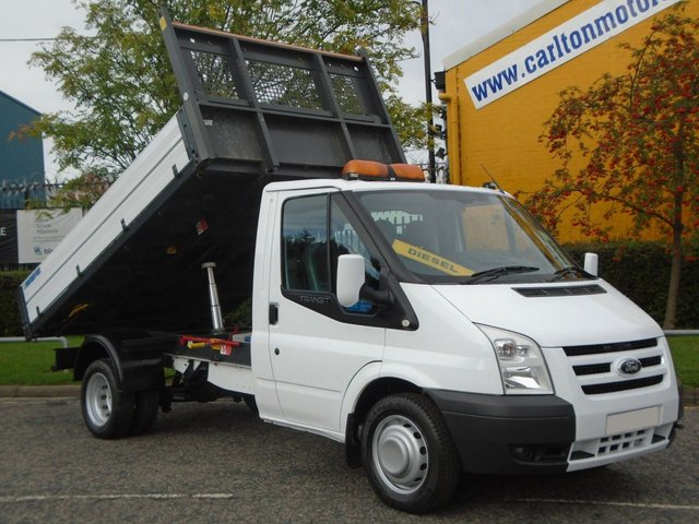 2011 11 FORD TRANSIT 115 T350m Tipper 10.5ft Alloy body Drw Low mileage Ex Council Free UK Delivery