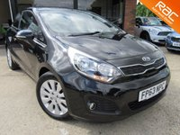 USED 2013 63 KIA RIO 1.4 2 ECODYNAMICS 3d 107 BHP RAC INSPECTED, ONE PREVIOUS OWNER, AIR CON, ALLOYS, FULL SERVICE HISTROY