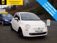 USED 2012 62 FIAT 500 1.2 STREET 3d 69 BHP FANTASTIC CAR THAT LOOKS GREAT IN WHITE.  FULL SERVICE HISTORY