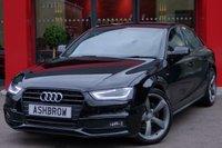 2014 AUDI A4 2.0 TDI S LINE BLACK EDITION 4d 177 S/S £17883.00