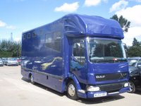 USED 2002 52 DAF TRUCKS LF 5.9 FA LF45.180 08 DAY 1d 182 BHP Horsebox, Great Condition