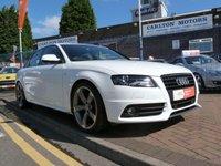 2011 AUDI A4 2.0 TDI S LINE BLACK EDITION 4d  £SOLD