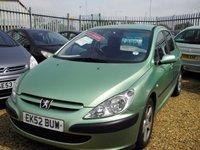 2002 PEUGEOT 307 2.0 GLX HDI 5d 106 BHP £895.00