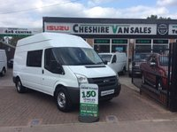 2010 FORD TRANSIT 2.4 350 WELFARE UNIT MESS VAN TOILET MICROWAVE ETC 115 BHP £10995.00