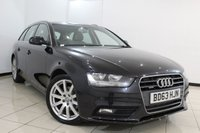 USED 2014 63 AUDI A4 2.0 AVANT TDI QUATTRO SE TECHNIK 5DR AUTOMATIC 174 BHP SAT NAVIGATION + BLUETOOTH + MULTI FUNCTION WHEEL + PARKING SENSORS + CRUISE CONTROL