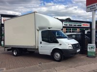 2012 FORD TRANSIT 2.4 350 E/F DRW LUTON 115 BHP TAIL LIFT CHOICE £9995.00