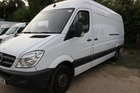 USED 2010 10 MERCEDES-BENZ SPRINTER 2.1 313 CDI LWB 1d 129 BHP 10 PLATE HIGH ROOF ARCTIC WHITE