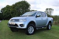 USED 2014 14 MITSUBISHI L200 2.5 DI-D 4X4 TROJAN DCB 1d 175 BHP Lovely Example, One Owner, Only 26,352 Miles, Finance Arranged.
