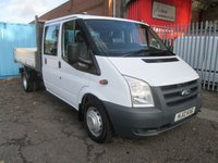 2012 FORD TRANSIT 350 Double Cab One Stop Alloy Tipper 115PS *ONE OWNER* £10995.00