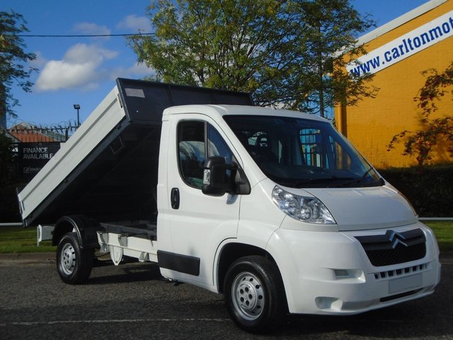 2007 57 CITROEN RELAY 2.2HDi L2 35 Mwb Tipper 10ft2 Alloy body Low Mileage FWD Free UK Delivery