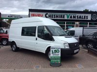 2013 FORD TRANSIT 2.2 350 6 SEAT FACTORY CREW VAN 125 BHP WITH FSH £12495.00