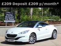 USED 2013 PEUGEOT RCZ 2.0 HDI SPORT 2d 163 BHP GREAT SPEC CAR, 8.9 % APR, PCP & HP FINANCE CALCULATOR www.philiphollandcars.co.uk