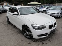2013 BMW 1 SERIES 1.6 114I SPORT 5d 101 BHP Low Miles Smart in white !! £10999.00