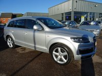 USED 2007 57 AUDI Q7 3.0 TDI QUATTRO S LINE 5d AUTO 234 BHP DRIVE THIS CAR HOME TODAY, 5 SERVICE STAMPS,LAST SERVICED AT 98 K, SATELITTE NAVIGATION ,  LEATHER TRIM, 12 MONTHS MOT WITH THE SALE OF THIS VEHICLE