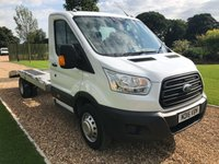 USED 2016 16 FORD TRANSIT RECOVERY TRANSPORTER 2.2 350 C/C DRW 1d 124 BHP SPECIALIST KFS BODYWITH RAMP EXTENSIONS