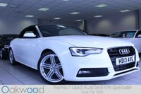 2013 AUDI A5 2.0 TDI 177 BHP S LINE SPECIAL EDITION AUTOMATIC 2d £20985.00