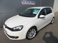 USED 2010 60 VOLKSWAGEN GOLF 2.0 GT TDI 5d 138 BHP 60000 MILES WITH FSH, STUNNING IN WHITE