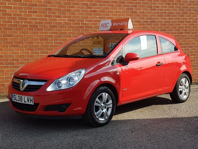 2008 08 VAUXHALL CORSA 1.0 BREEZE 3 DOOR