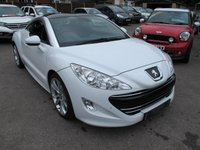 2012 PEUGEOT RCZ 1.6 THP GT 2d 156 BHP Low Miles , Great looking in White !! £10999.00