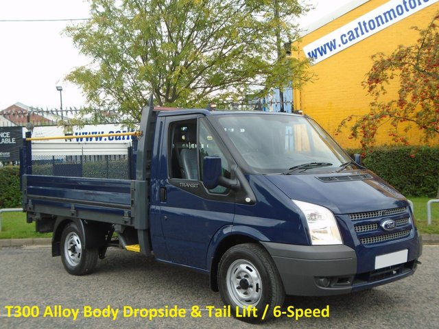 2013 63 FORD TRANSIT 2.2Tdci 100 T300s Dropside / Pickup+ T/Lift Srw Ex Lease Free UK Delivery WITH TAIL LIFT