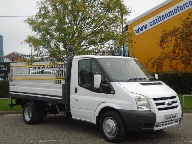 2008 58 FORD TRANSIT 100 T350m Dropside / Pickup+T/Lift [ Low Mileage 26k ] Crane / Swing Lift Free UK Delivery