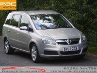 2007 VAUXHALL ZAFIRA 1.6 CLUB 16V 5d 103 BHP £2786.00