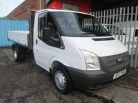 2013 FORD TRANSIT 350 Single Cab One Stop Alloy Tipper 125PS *TWIN REAR WHEELS* £12995.00
