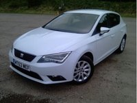2013 SEAT LEON 1.6 TDI SE TECHNOLOGY 5d 105 BHP Pearl White Metallic & Sat Nav £10149.00