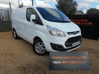 2014 FORD TRANSIT CUSTOM 2.2 270 LIMITED LR P/V 5d 125 BHP MANUFACTURERS WARRANTY £12990.00