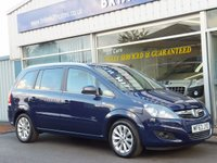 USED 2013 63 VAUXHALL ZAFIRA 1.6i DESIGN NAV 5dr (7-seat)  One private owner, Full Vauxhall service history.(Sat.Nav,Climate control,Alloy wheels) Like new throughout