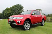 USED 2014 64 MITSUBISHI L200 2.5 DI-D 4X4 BARBARIAN LB DCB 1d AUTO 175 BHP Lovely Mileage, Satellite Navigation, Rear Rolling RNL Top, Full Leather, Finance Arranged.