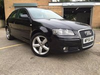 2007 AUDI A3 2.0 TDI SPORT 3d 140BHP, ONLY 2 FORMER KEEPERS, SERVICE HISTORY  £4695.00