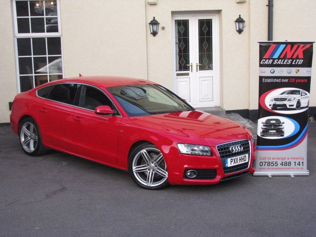 2011 11 AUDI A5 2.0 SPORTBACK TDI S LINE 5d 168 BHP FULL HEATED LEATHER SEATS +SAT NAV GOOD SPEC 19 INCH ALLOYS TIMING BELT DONE RESERVED FOR RACHAEL