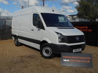 2015 VOLKSWAGEN CRAFTER 2.0 CR35 TDI High Roof MWB 5d 136 BHP £13490.00