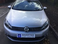 USED 2012 12 VOLKSWAGEN GOLF 1.6 SE TDI BLUEMOTION TECHNOLOGY 2d 104 BHP Convertible, 17 Inch Alloys, Bluetooth