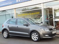 2013 VOLKSWAGEN POLO 1.2i MATCH EDITION 5d (12000mls) Air con.Alloys £8395.00