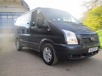 2013 FORD TRANSIT 2.2 280 LIMITED TOURNEO 9 SEAT FACTORY MINI BUS 125 BHP £11550.00