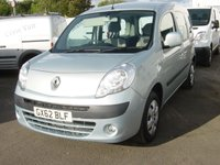 2012 RENAULT KANGOO 1.6 EXPRESSION 16V 5d AUTO 105 BHP WHEELCHAIR ADAPTED VEHICLE ONLY 3000 MILES £9000.00