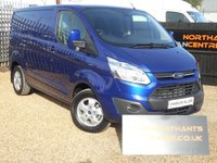 2016 FORD TRANSIT CUSTOM 2.2TDCi 290 L1H1 LIMITED Panel Van 125BHP Delivery Miles Only *CHOICE OF 3* £16790.00