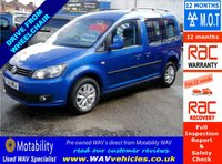 2011 VOLKSWAGEN CADDY 1.6 C20 LIFE TDI 5d AUTO DRIVE FROM WHEELCHAIR ACCESSIBLE £11995.00