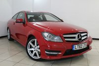 USED 2012 62 MERCEDES-BENZ C CLASS 2.1 C250 CDI BLUEEFFICIENCY AMG SPORT 2DR AUTO 204 BHP MERCEDES SERVICE HISTORY + SAT NAVIGATION + BLUETOOTH + SPORT SEATS + CLIMATE CONTROL + CRUISE CONTROL