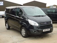 2014 FORD TRANSIT CUSTOM 2.2TDCi T290 LIMITED Low Roof 125 BHP  Panther Black £13495.00