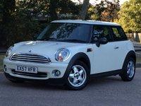 2007 MINI HATCH ONE 1.4 ONE 3d 94 BHP £5995.00