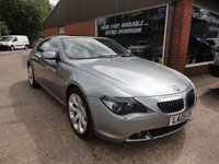 USED 2005 05 BMW 6 SERIES 4.4 645CI 2d AUTO 329 BHP STUNNING CAR FULL SERVICE HISTORY THIS CAR IS IN STUNNING CONDITION INSIDE AND OUT WITH A FULL SERVICE HISTORY SERVICES AT 16K,28K,35K,39K AND 52K ALL BMW AND BMW SPECIALISTS IN GREY WITH BLACK LEATHER INTERIOR,SAT NAV,PAN ROOF AND MUCH MORE.