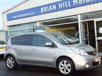 2012 NISSAN NOTE 1.6 N-TEC PLUS 5d AUTOMATIC Climate.Cruise.Alloys £5995.00