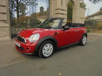 USED 2013 63 MINI CONVERTIBLE 1.6 ONE 2d AUTO 98 BHP *FINANCE ARRANGED*PART EXCHANGE WELCOME*